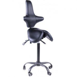 Gravitonus EZDuo Back - эргономичный стул-седло врача-стоматолога со спинкой
