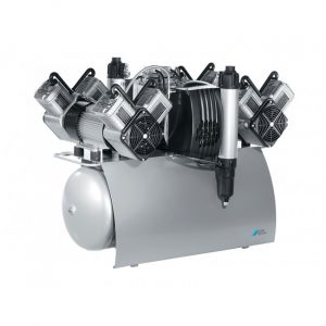 Quattro Tandem  безмасляный компрессор с двумя агрегатами для ти стоматологических установок с осушителем с ресивером  л  лмин  Drr Dental Германия