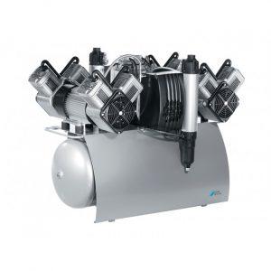 Quattro Tandem  безмасляный компрессор с одним агрегатом для ти стоматологических установок с осушителем с ресивером  л  лмин  Drr Dental Германия
