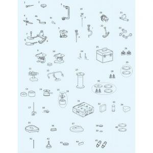 Вставки с резьбой (20 шт.) для всех артикуляторов PROTAR evo   KaVo (Германия)